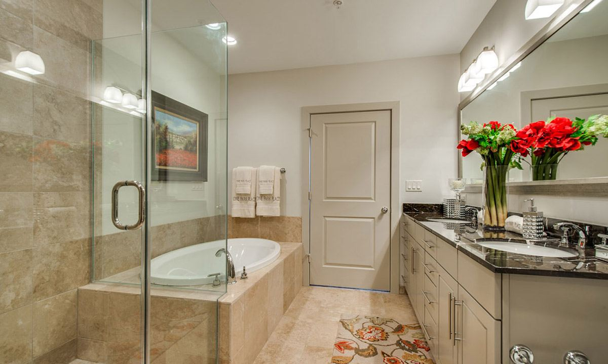 Bathrooms | One Park Place Luxury High Rise Apartments