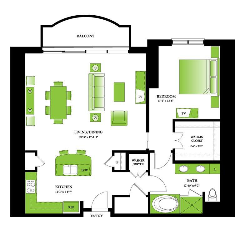 Floor Plans | One Park Place Houston Luxury Apartments