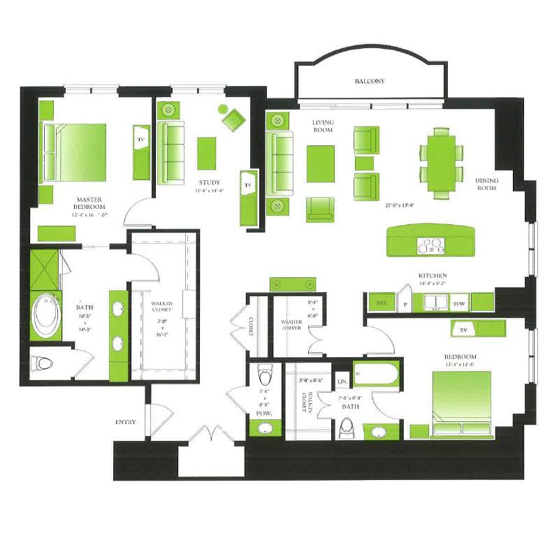 Luxury Apartments Condo Floor: One Park Place Luxury Apartments Near Me